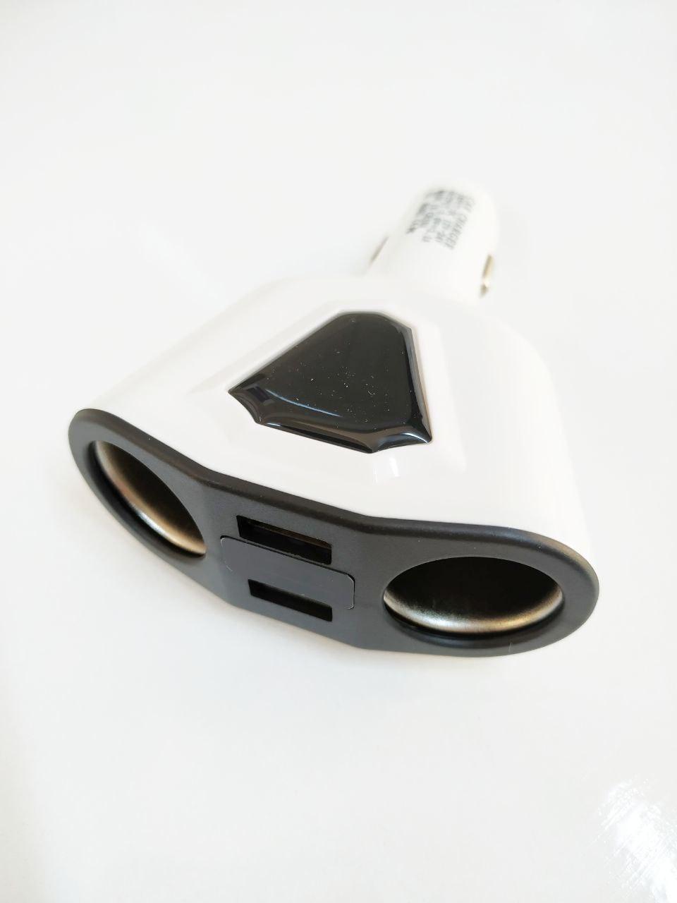 Araç İçi Şarj Cihazı Çakmaklık Çoğaltıcı USB Girişli