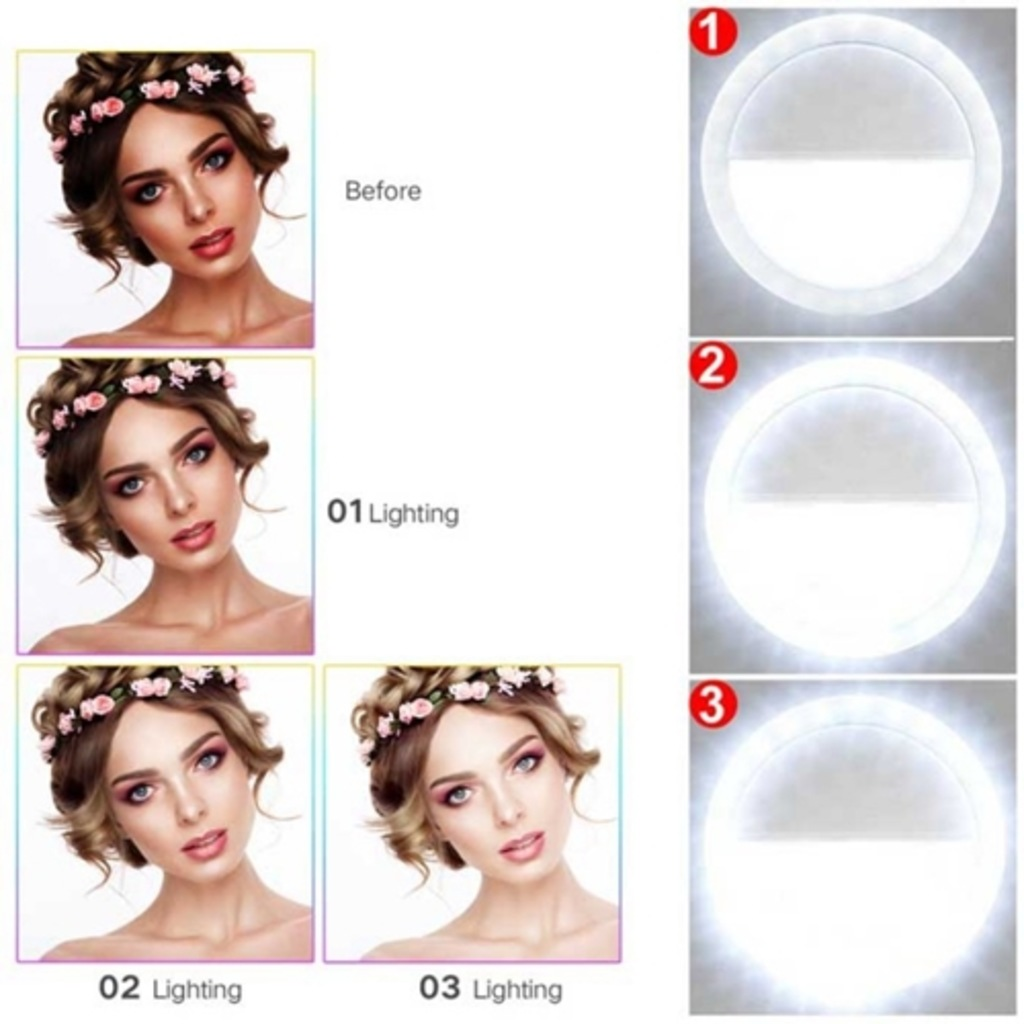 Selfie Işığı Ring Light Led Flash Beauty Taşınabilir Ledli Işık