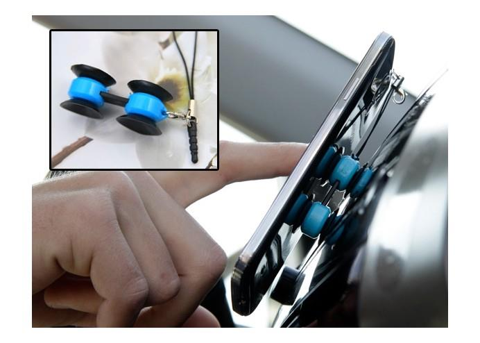 Stickee Çift Vantuzlu Çok Amaçlı Mini Telefon ve Aksesuar Tutucu