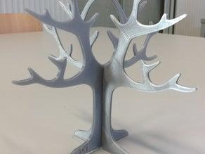 Çift Kapasiteli Küpe Ağacı Tutacağı