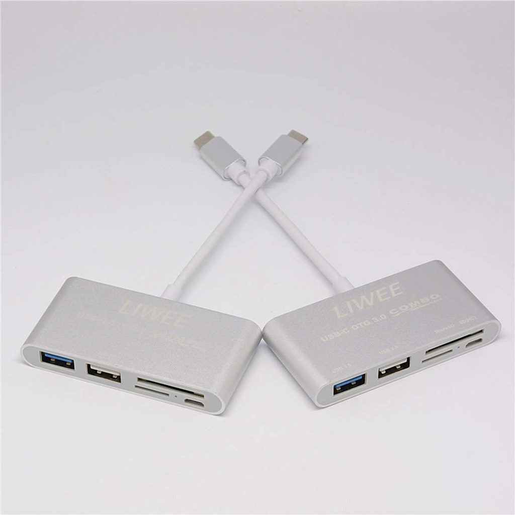 Type-C 5in1 USB C 3.0 SD Çevirici Adaptör Çoklayıcı Çoğaltıcı