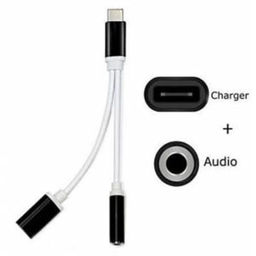 Type-C to 3.5mm Kulaklık Çevirici Aux Kulaklık + Şarj Dönüştürücü